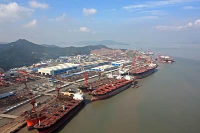 Zhoushan Shipyard:Photo credit COSCO
