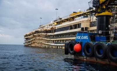 Costa Concordia, Winter 2013-14: Photo courtesy of The Parbuckling Project