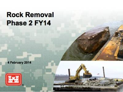 Rock Removal information: Image courtesy of the contractors