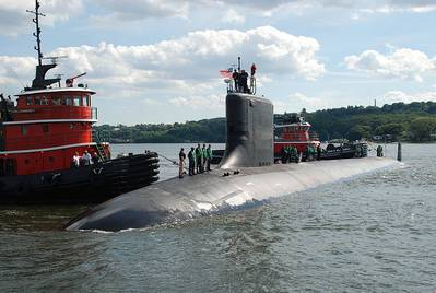 Virginia-class submarine: Photo credit USN