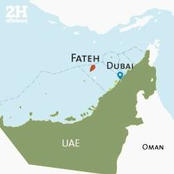 UAE Fateh File Map: Image credit 2H Offshore