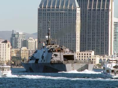 USS Freedom arrives San Diego: Photo credit USN