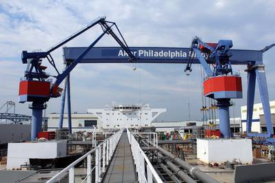 file photo: Aker Shipyard, Philadelphia
