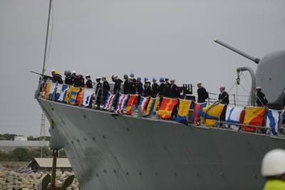 USS Donald Cook arrives Rota: Photo USN
