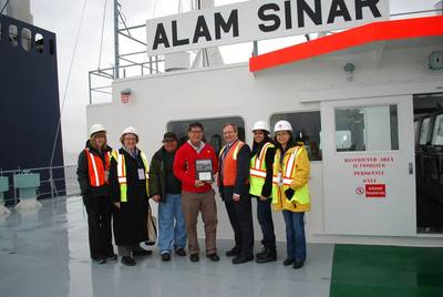 Bulkship welcome: Image courtesy of Port of Vancouver
