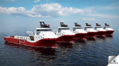 Dual-fuel Platform Supply Vessels: Image courtesy of Wärtsilä