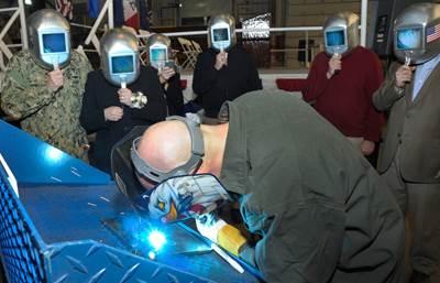 Keel-laying ceremony: Photo courtesy of USN