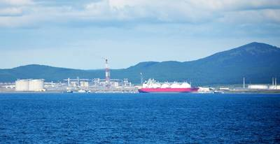 LNG plant in Sakhalin: Image courtesy Gazprom