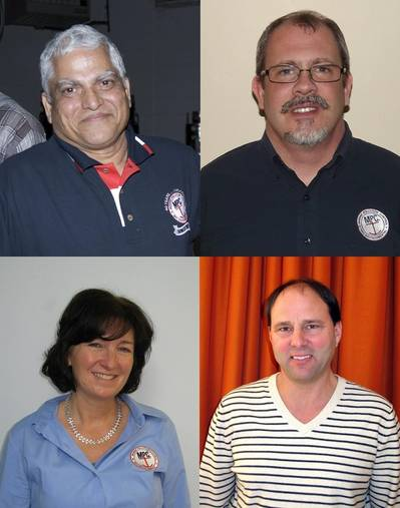Clockwise from top left: Dr. Manik S. Sardessai, Walter J. Putman, Jr., Timothy P. Schallhorn and Catherine Gibbons