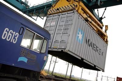 Multimodal transfer: Image courtesy of Maersk Line