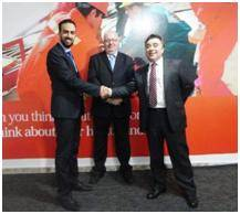From left to right: Dr Sultan FMG,  Alan Kennedy Bolam IRHC, Darrin Hawkes, Hawkes Associates