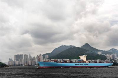 A Maersk Containership: Photo courtesy of the owners