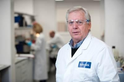 Raymond Pirie, Vice President of Intertek's global Exploration and Production business line, at one of Intertek's laboratories