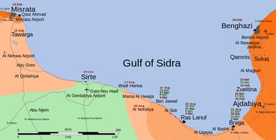 Gulf of Sidra, Libya: Map Wiki CCL£