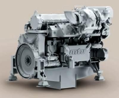The new MTU engine: Image courtesy of MTU