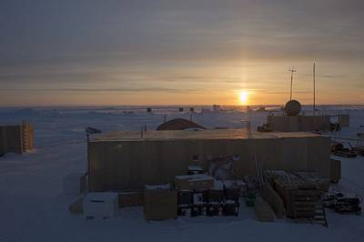 U.S. Navy Ice Camp Nautilus during Ice Exercise (ICEX) 2014. The camp is located on a sheet of ice adrift on the Arctic Ocean. ICEX 2014 is a U.S. Navy exercise highlighting submarine capabilities in an arctic environment. (U.S. Navy photo by Mass Communication Specialist 2nd Class Joshua Davies/Released)