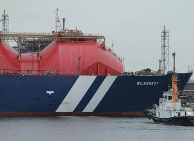 LNG carrier docking: Image courtesy of AWILCO