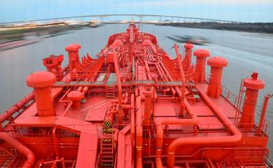 Gas Carrier Foredeck: Photo courtesy of Navigator