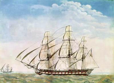 USS Essex, Artist: Joseph Howard (Courtesy U.S. Naval Academy Museum Collection)