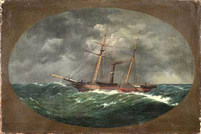 An 1852 painting of the Robert J. Walker by W.A. K. Martin. Courtesy of The Mariners' Museum