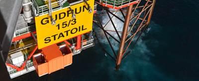 The Gudrun platform (Photo: Harald Pettersen/Statoil)