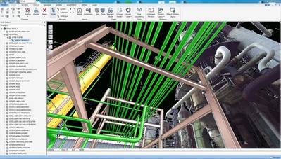 Seamless integration of Laser scan data in the AVEVA Everything 3D BubbleView