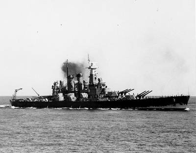 USS North Carolina (Courtesy of the Naval Historical Foundation, Maher Collection. U.S. Naval Historical Center Photograph.)