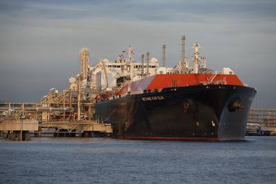 BG Group's Methane Kari Elin delivers the first consignment of LNG to Singapore's SLNG terminal. (Photo courtesy BG Group)