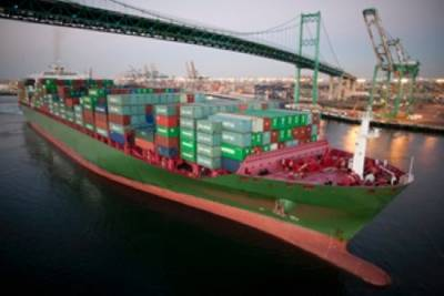 Container ship: Image courtesy of Port of LA