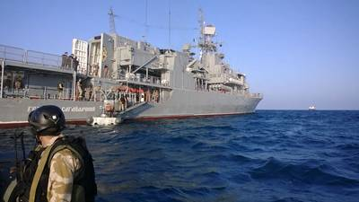 NATO and Ukraine navy worked together late last year in the fight against piracy. Pictured is the Ukrainian Frigate Hetman Sahaidachny. Photo Courtesy NATO