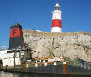 Donjon Marine was awarded a contract to remove and dispose of the M/V Fedra in Gibraltar, the southern-most tip of the Iberian Peninsula that borders Spain.
