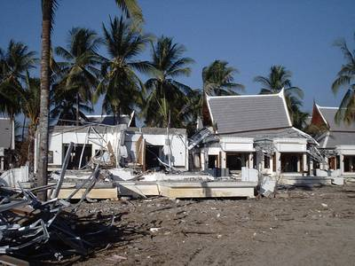 Holiday residences in Thailand damaged by the Indian Ocean Tsunami 2004 (Image courtesy of Tiziana Rossetto)