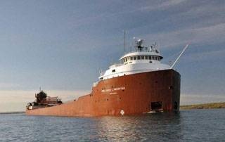 M/V Hon. James L. Oberstar (Photo courtesy The Interlake Steamship Company)