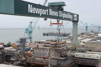 Newport NEws works on the USS Abraham Lincoln's (CVN 72) refueling and complex overhaul (Photo by John Whalen/HII)