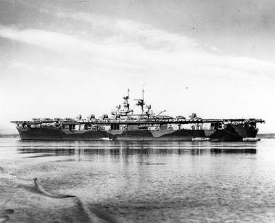 USS Wasp (CV-7). U.S. Naval Historical Center Photograph.