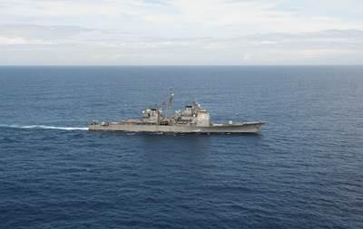 USS Vella Gulf (U.S. Navy photo by Lacordrick Wilson)