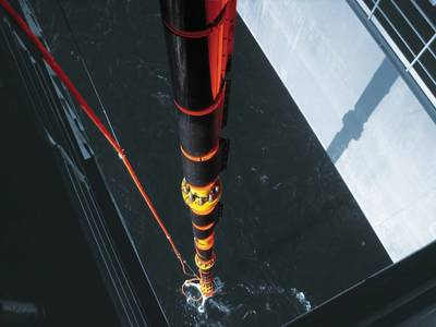 Claxton drilling riser being run offshore Norway