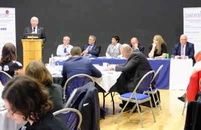 Chris Evans speaking at the WISTA-UK Forum (Credit WISTA)