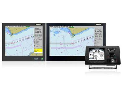 CS68 Family with AP80 Autopilot showing Track Steer (Image courtesy of Simrad)