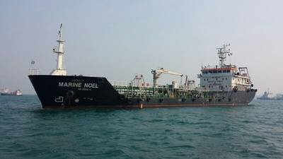 OW Bunker's new barge in Singapore, Marine Noel (Photo courtesy of OW Bunker)