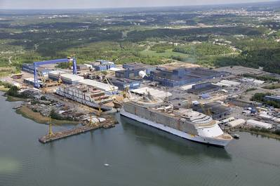STX Europe's Turku shipyard in southwest Finland specializes in building post-Panama class cruise vessels. (Photo courtesy of STX Europe)