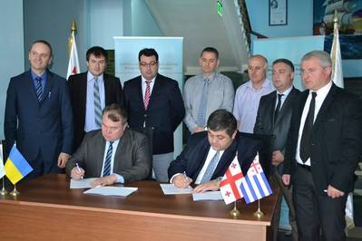 Batumi State Maritime Academy (BSMA) and Transas Marine Black Sea signed a contract for supply and installation of the Transas Full Mission Offshore simulator. (Photo courtesy of Transas Marine)
