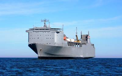 The 648-foot roll-on/roll-off Ready Reserve Force ship M/V Cape Ray (Photo: MARAD)