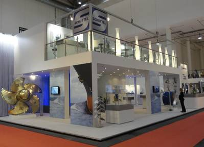Schottel's booth (stand 306, Hall A 4) at SMM 2014 (Photo: Schottel)