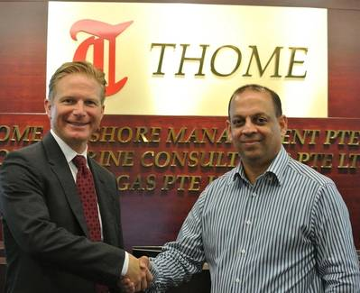 (Left-Right) Stephen Alexander, COO and Secretary General of IMPA with Ryan Dalgado, Procurement and Supply Chain Manager of Thome Ship Management.