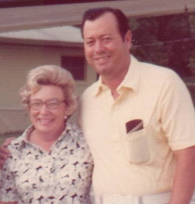 Joe LeBlanc with his wife, Betty