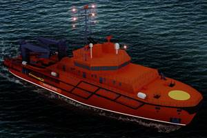 The Multipurpose Salvage Vessel (MPSV) being built by Russia's Nevsky shipbuilding and ship repair yard will be equipped with an integrated total electro-propulsion package from Wärtsilä. (Photo courtesy Wärtsilä Corporation)
