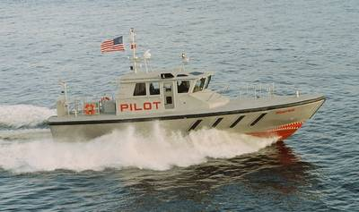Close sister vessel previously delivered to the Delaware pilots. (Photo courtesy of Gladding-Hearn Shipbuilding)