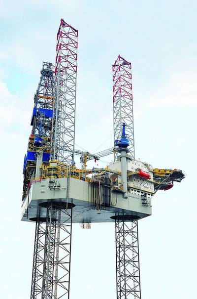 Jack-up rig Noble Mick O'Brien, delivered to Noble Drilling in 2013 (Photo: Sembcorp Marine)