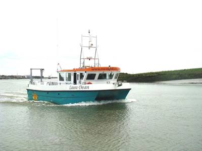 Laura Dean is a new 11-meter dive boat for the Mevagh Dive Center (Photo courtesy of Blyth Workcats)
